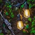 Водонепроницаемый 15 м 15 светодиодные гирлянды Крытый открытый коммерческий класс E26 E27 уличный сад патио задний двор праздничное освещение ...