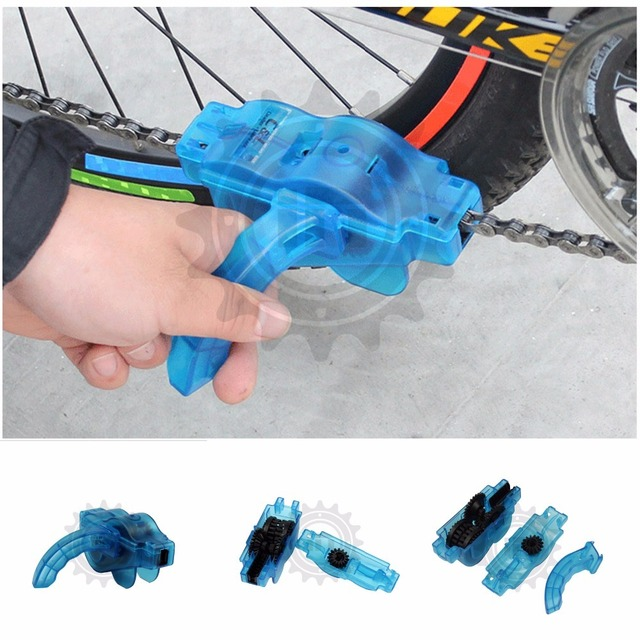 Scrubbe Chain oil protector Cycling Cleaner Set Flywheel Kit Washing Tool oiling Bike MTB Blue Bicycle mudguard pedal single