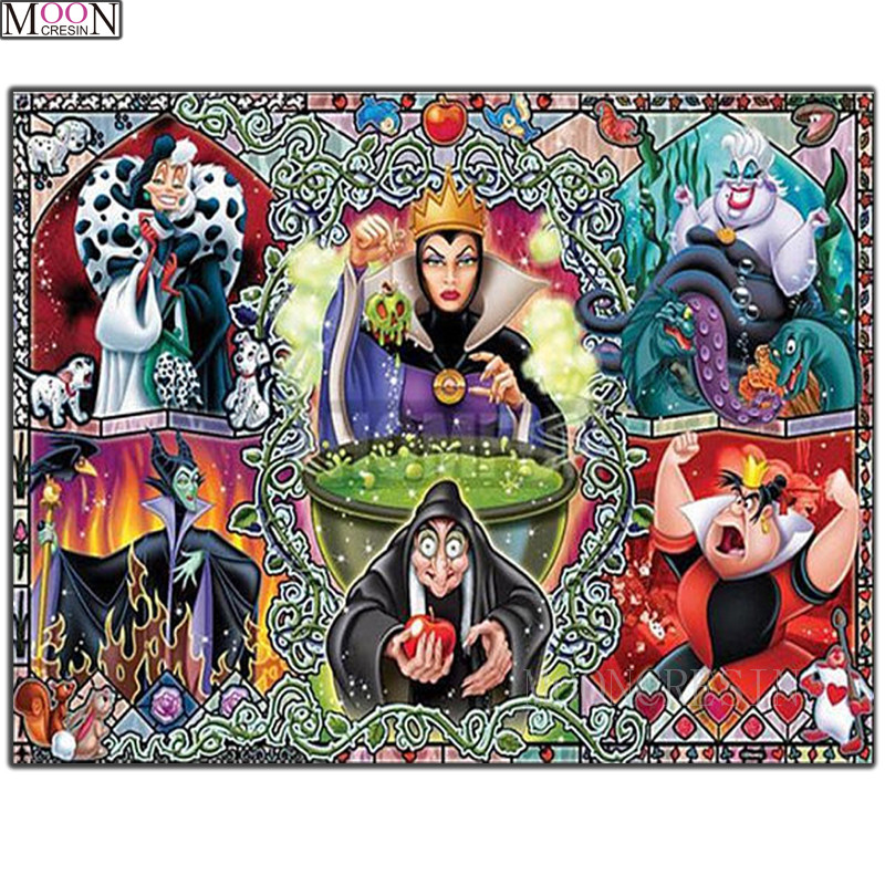 Needlework 5D DIY Diamond Painting Cross Witch Queen 3D Diamond Mosaic Square Drill Full Diamond Embroidery Decoration Cartoon in Diamond Painting Cross Stitch from Home Garden