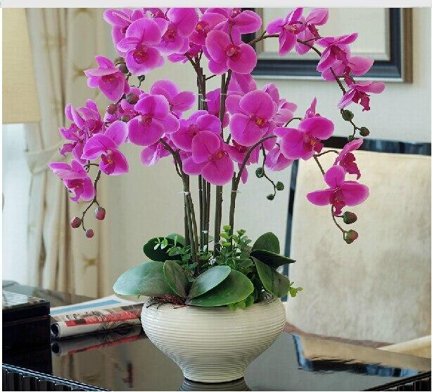 Anggrek  kupu kupu set Bunga  simulasi tinggi Pot bunga