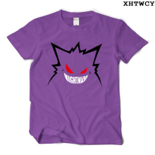 New Creative T Shirts Pokemon Gengar Tshirt O Neck Top Tees Casual Gengar Short-Sleeved T-shirt