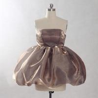 RSE859 коричневый органза Пышные юбки Мини коктейльные платья