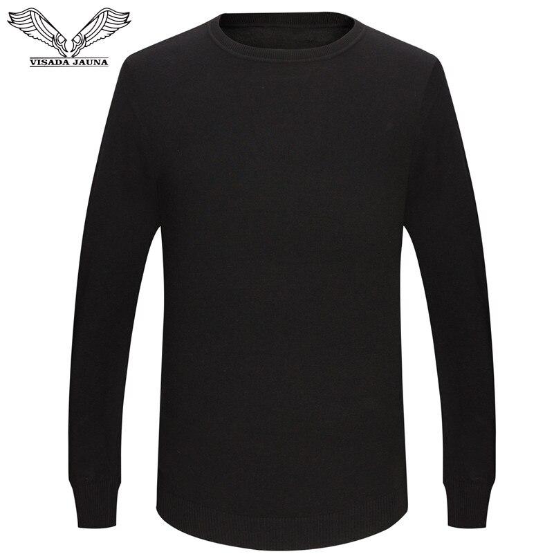VISADA JAUNA Hombres Pullover Oansatz Slim Fit Stricken Hombres Langarm Pullover Mode V-ausschnitt Herren Pullover Große Größe N5870