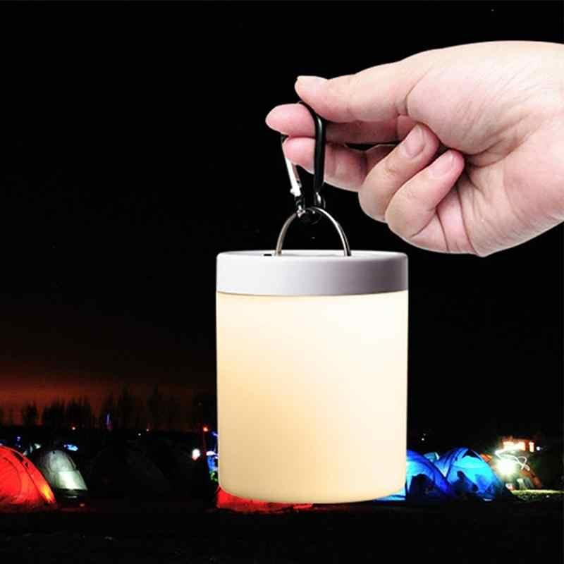 Adeeing настольная лампа Touch Цвет Изменение светодиодный прикроватной тумбочке Настольный цилиндр лампы затемнения RGB кемпинг фонарь подсветки
