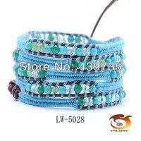 Vintage Mens Womens Handmade Leather Bracelet Charm Beads Braided Multilayer Bracelet Adjustable pulseira masculina