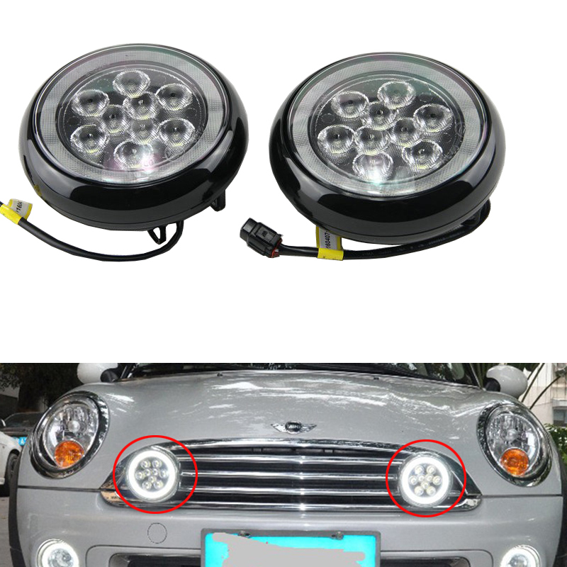 2XWhite LED DRL Daytime Running Rally Lamp For 2001-2006 Mini Cooper F55 F56 F57