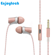 New High Quality Wired Earphone With Microphone For Sport Running Portable Audio Headset Iphone 4/5/6 Samsung Huawei Xiaomi