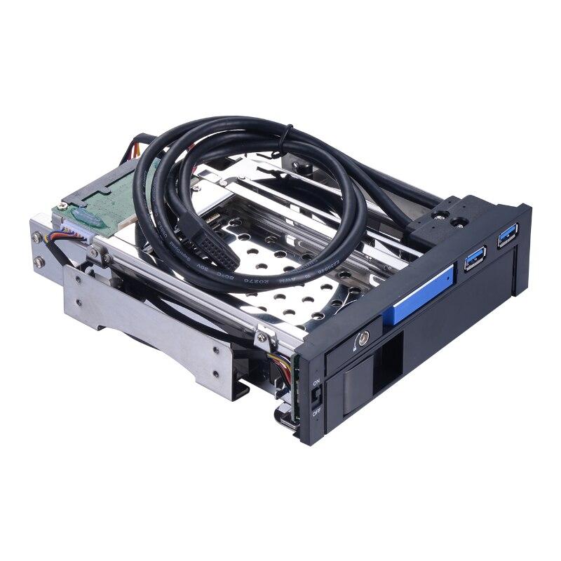 2.5in sata アルミニウムの筐体ケースに 3.5 sata ハードドライブキャディートレイバックプレーン 5.25in hdd ドッキング PC ベイの hdd エンクロージャ  グループ上の パソコン & オフィス からの HDD ケース の中 1
