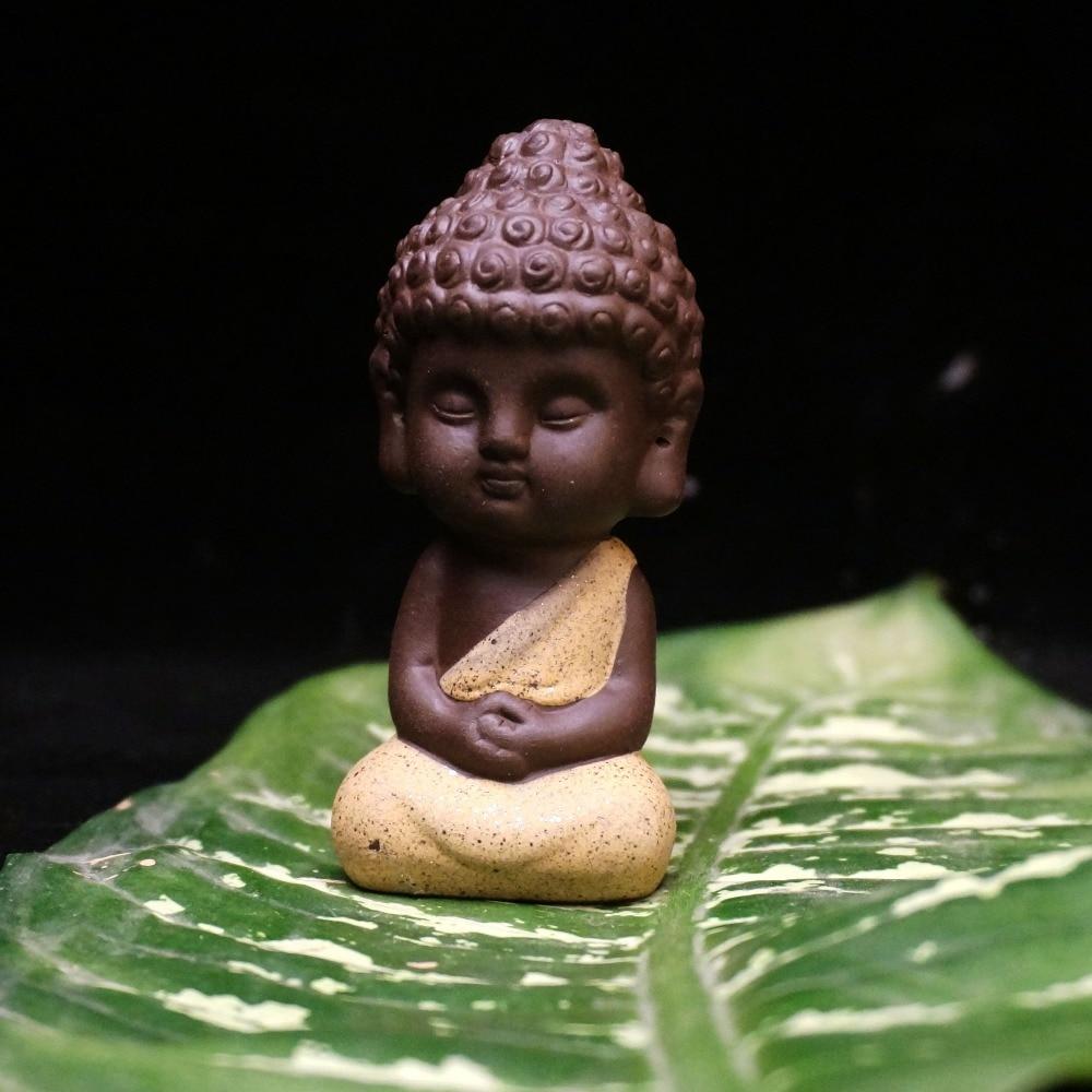 Pequeña estatua de Buda monje estatuilla tathagata India Yoga - Decoración del hogar - foto 3
