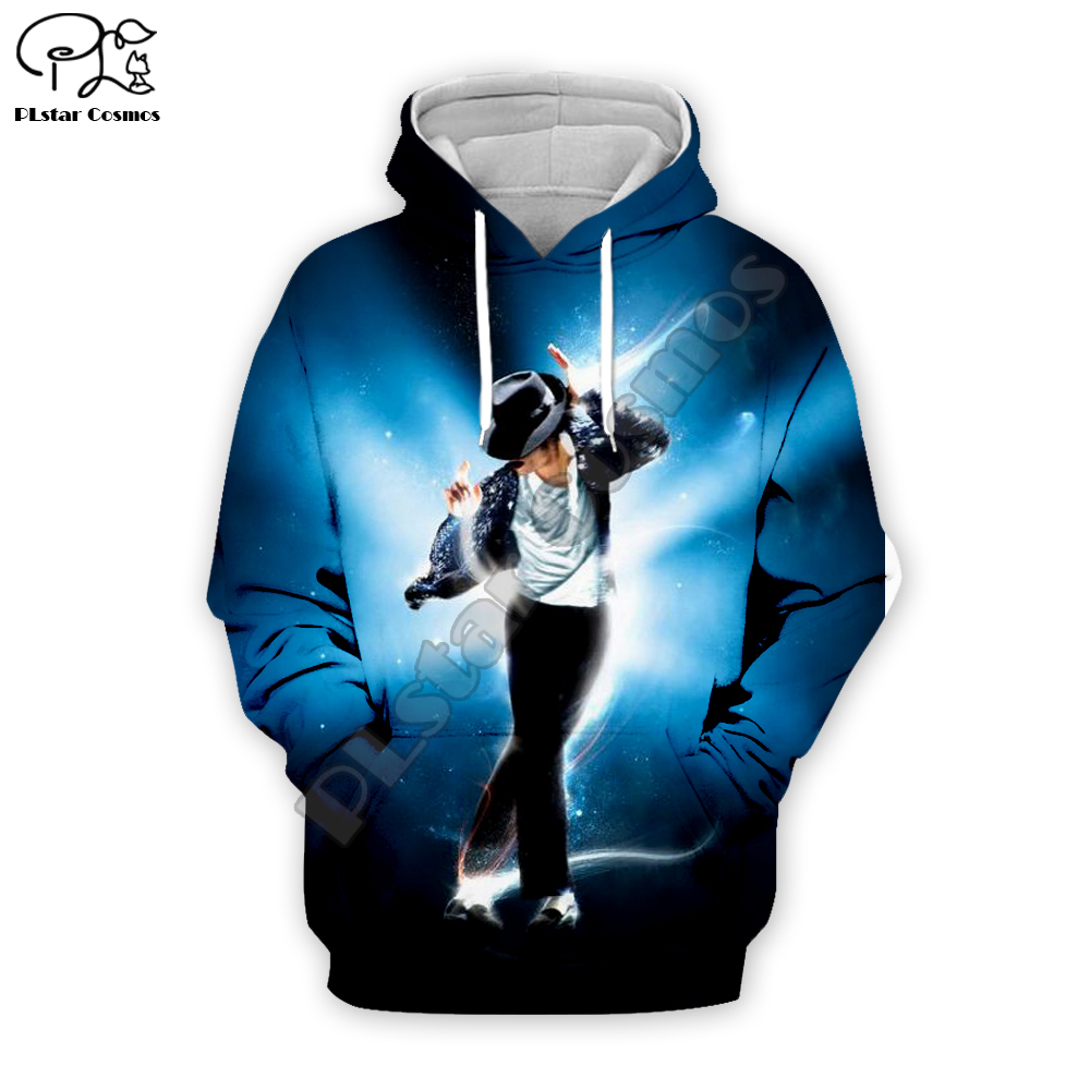 PLstar Cosmos Michael Jackson 3D Printed Hoodie/Sweatshirt/Jacket/Mens Womens Hip Hop Apparel Fan Costume