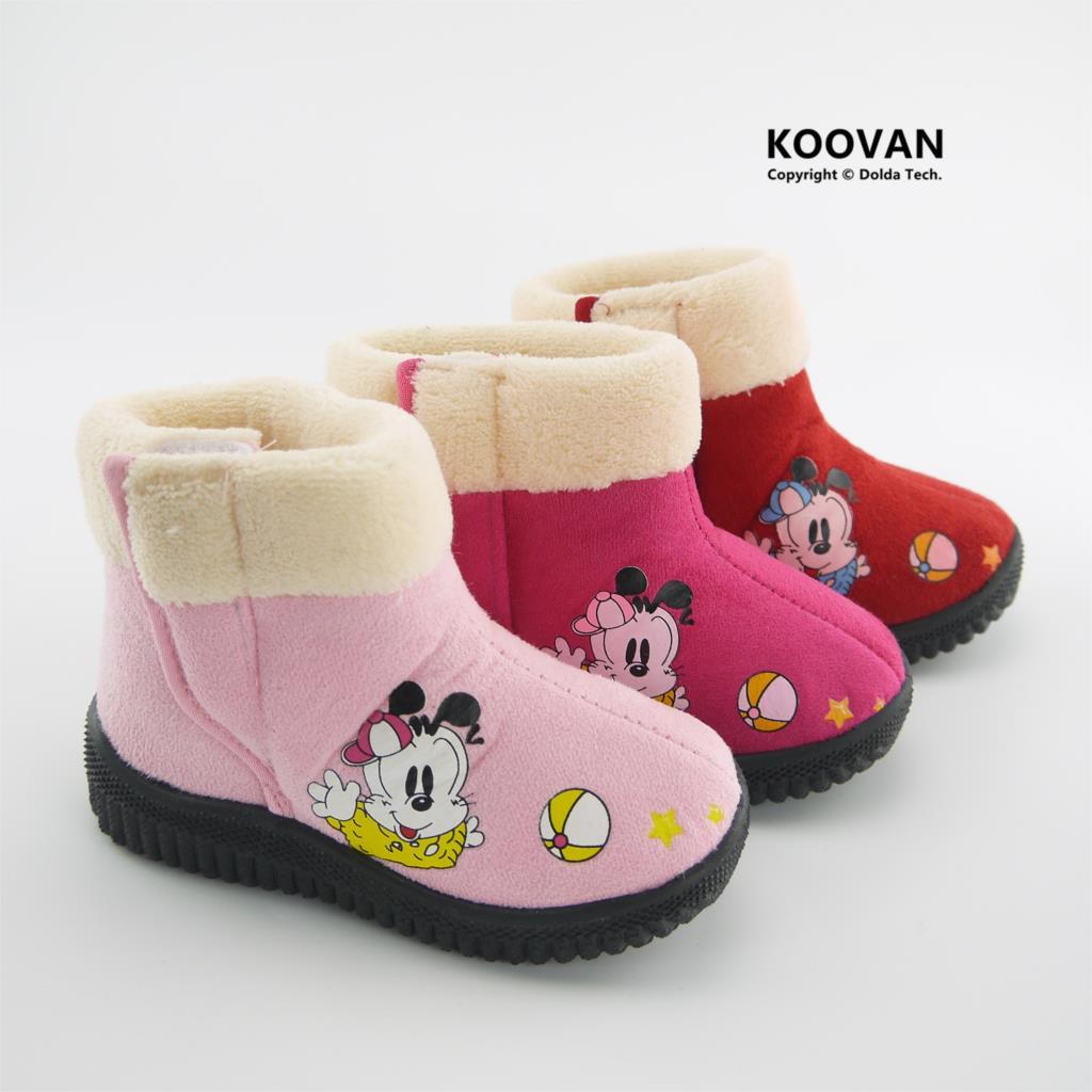 Koovan Children Boots 2017 New Style Child Girl Princess Warm Snow Boots  Dog Medium Cotton- cdc89c0d8001