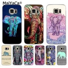 MaiYaCa Elephant in Purple & Blue soft tpu phone case cover