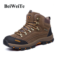 BeiWeiTe Winter Hiking Boots For Men High Top Antiskid Trail Trekking Sneaker Men S Spring Walking