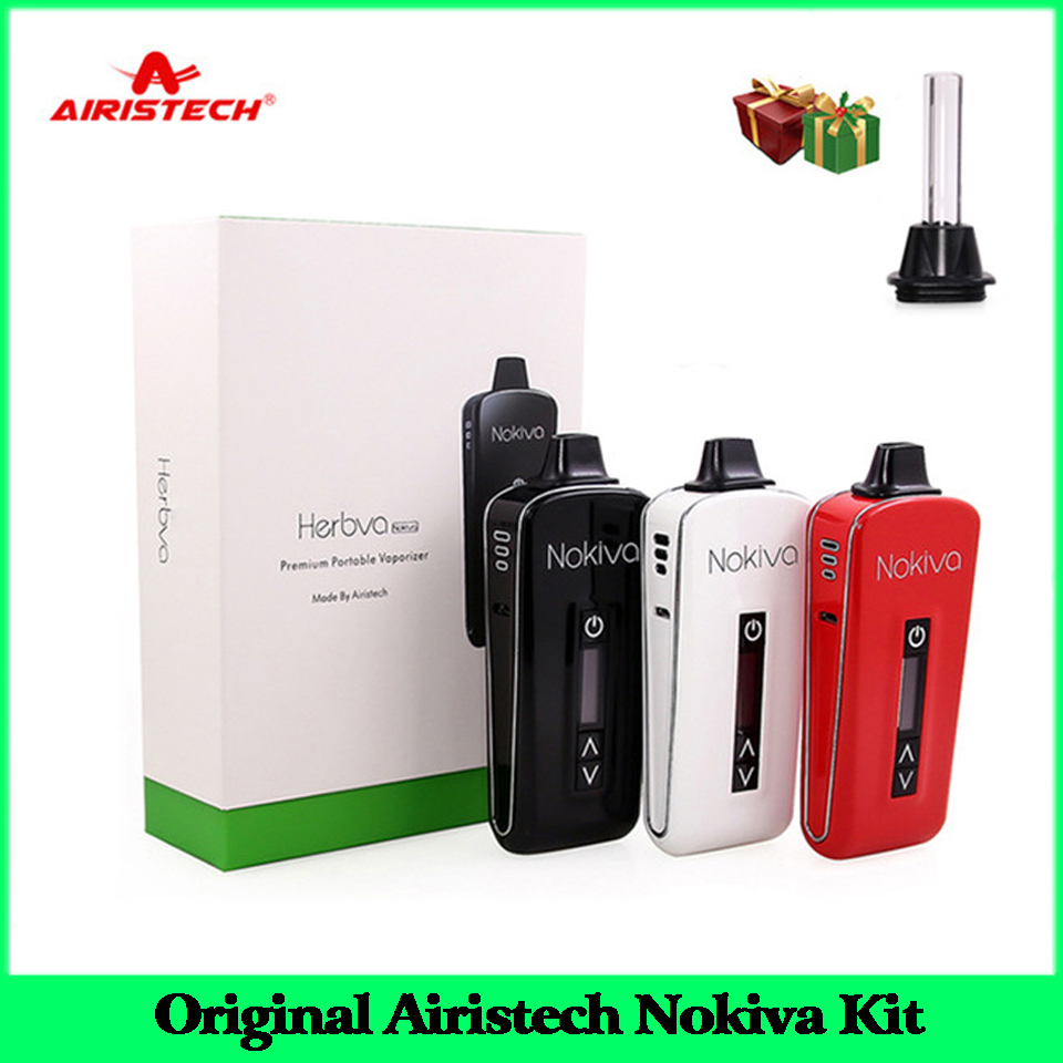 100% Original Airistech Herbva Nokiva Vape Kit vaporisateur pour herbe sèche Vape stylo E-Cigarette Kit avec bobine en céramique chauffage chambre