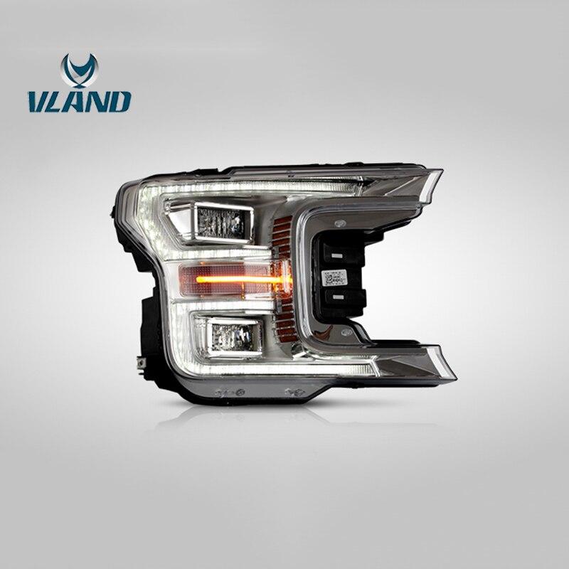Vland Fábrica Acessórios Do Carro Head Lamp para Ford Raptor F150 2017 UP Completa LED Head Light com Indicador Seqüencial