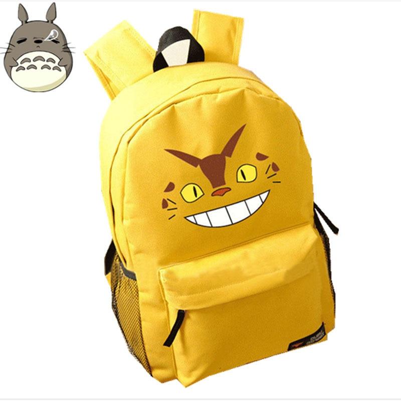 Exclusive Design Anime Kawaii Totoro Bus Printing Backpacks for Teenage Girls Emoji School Backpack School Bags for Teenagers