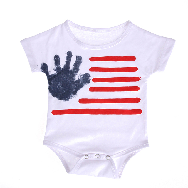 458ea3996ace Newborn Infant Baby Kids Short Sleeve Cotton Palm Print Romper Jumpsuit  Outfits Baby Girl Boy Summer Clothes