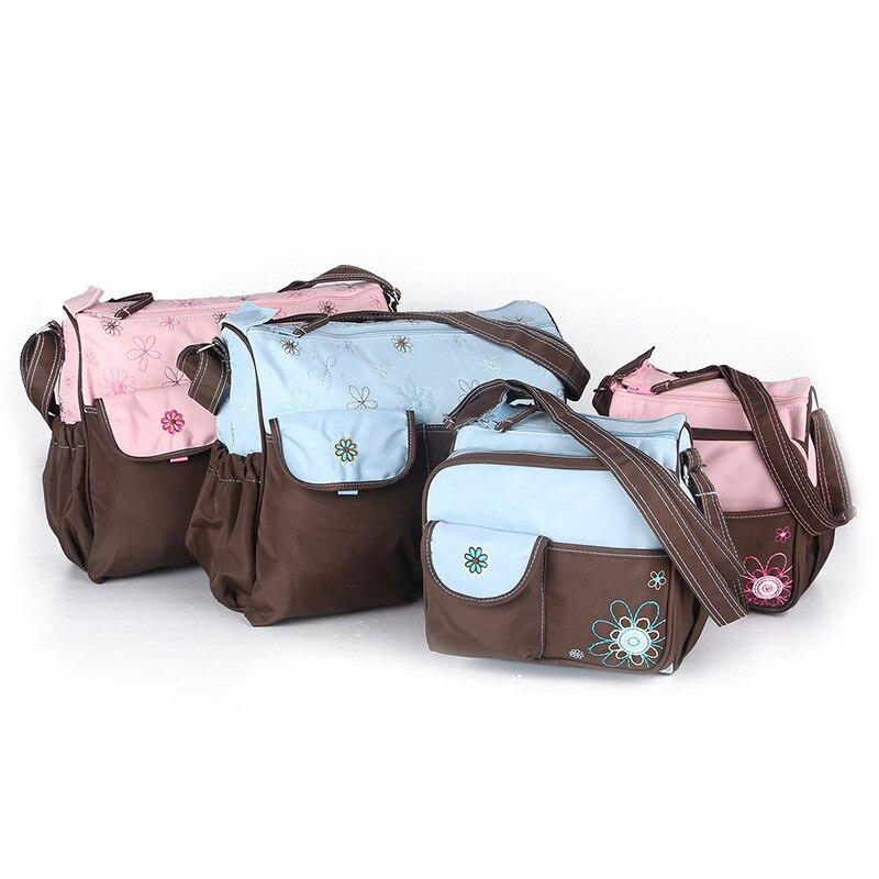 Sac à langer brodé pour maman sac à langer pour mère sac de maternité Set accessoires de rangement pour organisateur de bébé pour les nouveau-nés