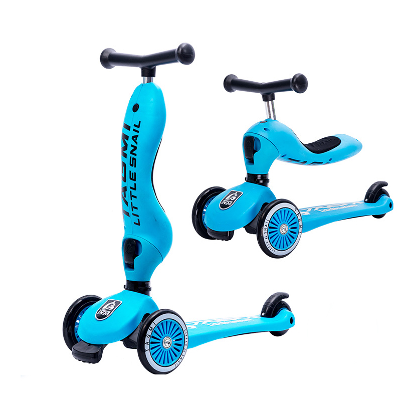 Combo Children Mini scooter kick scooter with 4 flashing PU  and Children Three wheel Balance Bike Ride On Toys Gift Baby 2 wheel electric balance scooter adult personal balance vehicle bike gyroscope lithuim battery