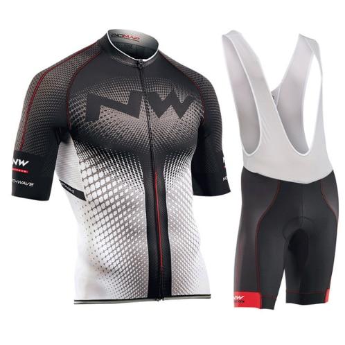 NW 2018 Neue Radfahren Jersey Kurzarm Sommer Atmungs bib shorts Fahrrad Kleidung Trocknen Schnell Roupa Ciclismo Maillot