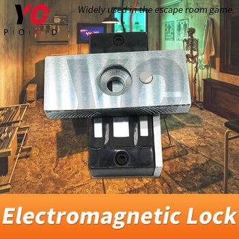 Repuestos para sala de Escape, 12V EM lock, instalados en la puerta, utiliza el Cerradura Electromagnética para abrir o cerrar la puerta, juego Takagism YOPOOD