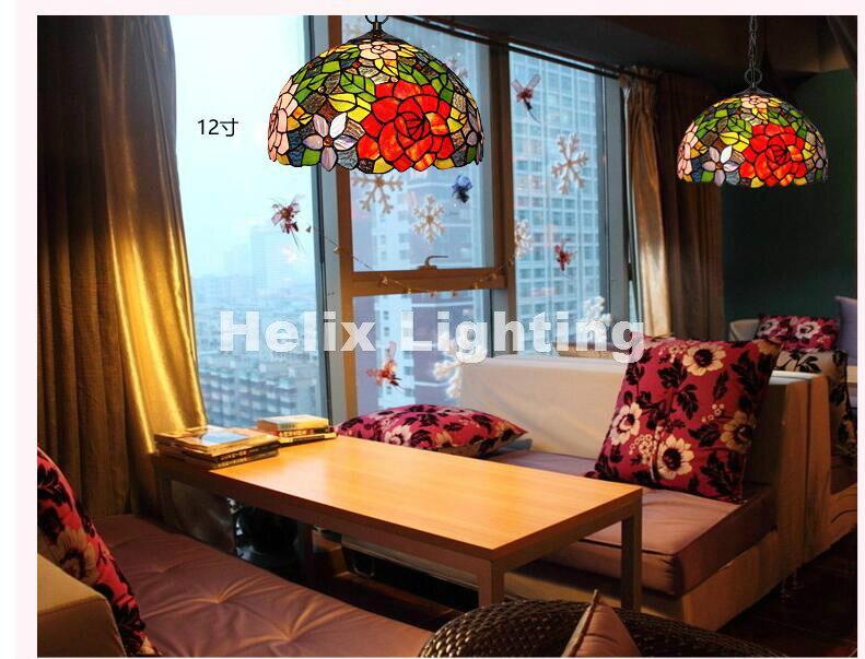US $82.32 11% di SCONTO|Free libero europeo tiffany novelty pendente camera  da letto bambino lampade a sospensione per balcone decorazione della casa  ...