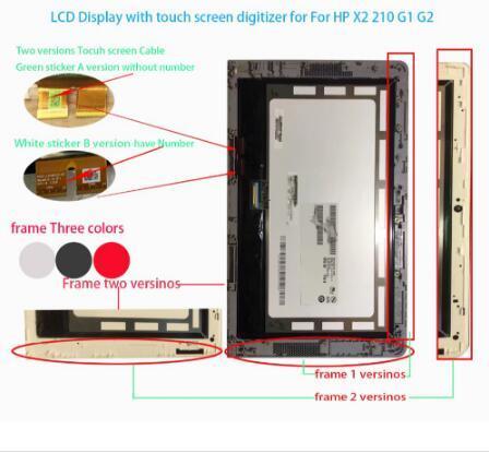 100% מקורי עבור HP Pavilion x2 210 G2 G1 LCD תצוגת Lcd מסך עם Digitizer מסך מגע עצרת B101EAN01.8 TV101WNM NP1