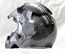 NEW Gray MASEI IRONMAN Iron Man motorcycle helmet