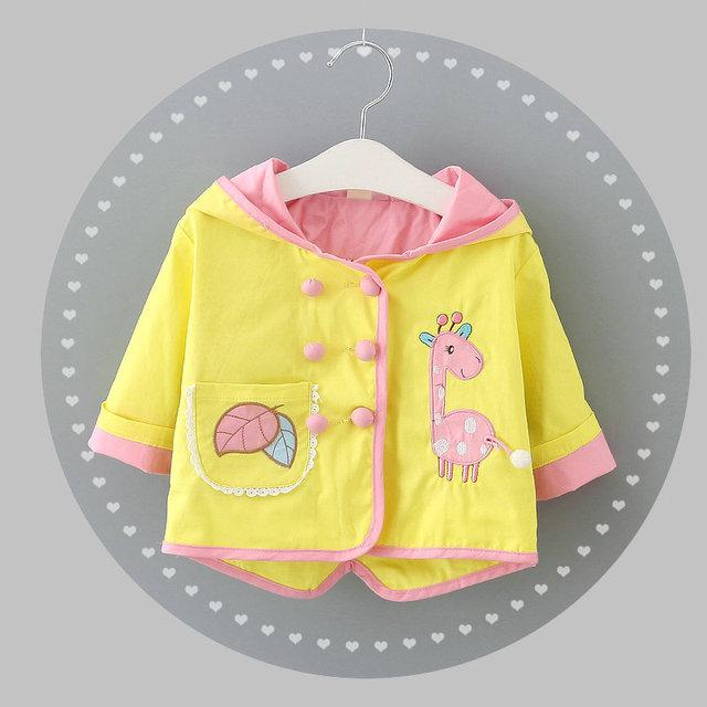 2016 nova primavera outono 100% algodão roupas menina blusão com capuz jaqueta de roupas infantis para crianças 1-3 anos grátis grátis