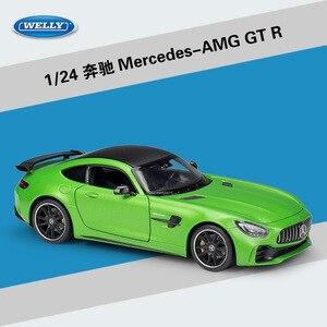 Image 1 - Welly ダイキャスト 1:24 スケール合金レーシングカーモデルカーメルセデスベンツ AMG GTR スポーツカー金属おもちゃの車おもちゃギフトコレクション
