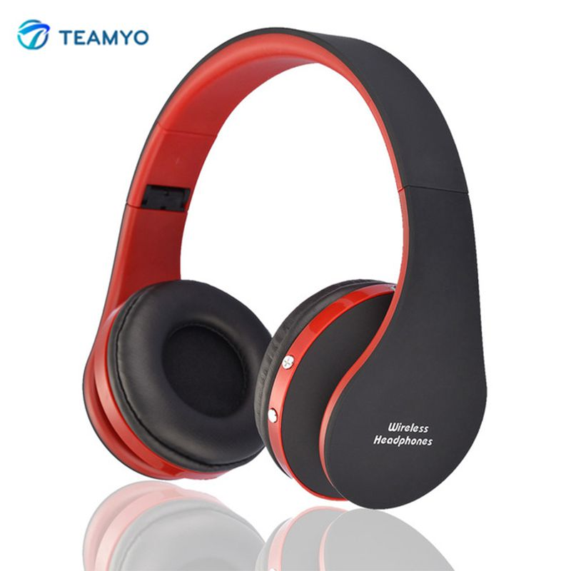 Original Teamyo NX-8252 Wireless Stereo Bluetooth Headphones Foldable Sports Earphone with Microphone Bluetooth Headset car swivel suction cup mount holder for samsung i9300 galaxy s3 black