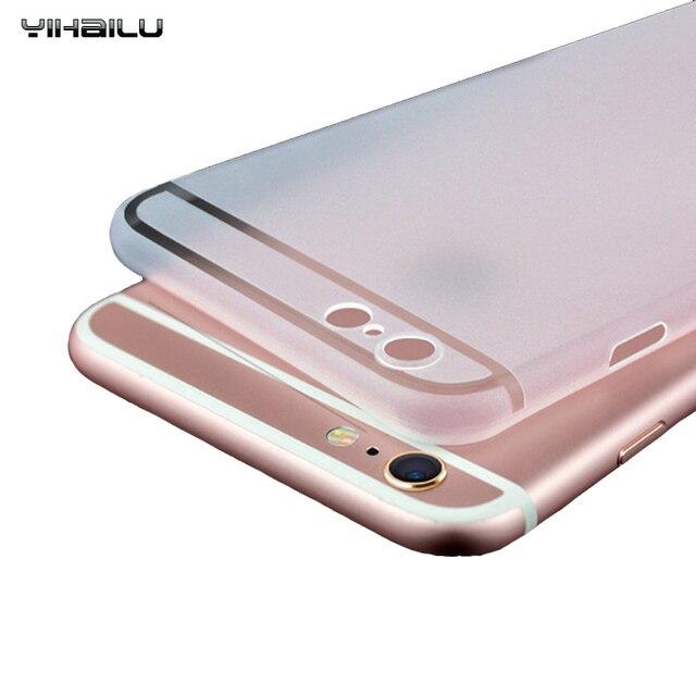 Gommage Dur Cas Pour iPhone 7 Téléphone Case iPhone 6 Plus PC Couverture Arrière Protéger Caméra Ultra Mince Couverture Pour iPhone 6 s Case