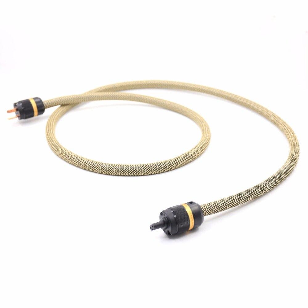 SPX-28 OCC pur cuivre argent plaqué US câble d'alimentation avec figure 8 IEC cordon