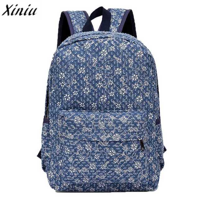 2017 School Bag Fashion Modern Durable Casual Canvas Printing ...
