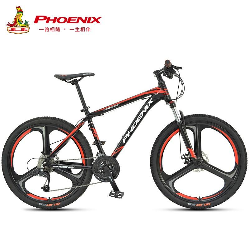 Phoenix 26''27. 5''Student off-road Ciclismo Bicicleta Mountain Bike 27 Velocidade Dos Homens Mulheres de Aço Bicicleta MTB Suspensão Garfo Da Bicicleta