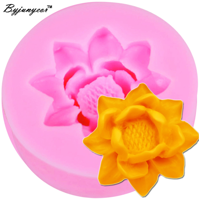 Byjunyeor m594 lotus flower shape silicone mold fondant paste diy 3d byjunyeor m594 lotus flower shape silicone mold fondant paste diy 3d blossoming flower silicone decorating mould4 mightylinksfo