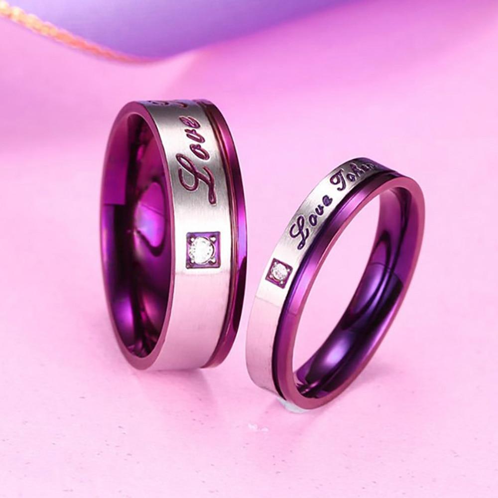 Lover Ring Valentine Gifts Women Men\'s \