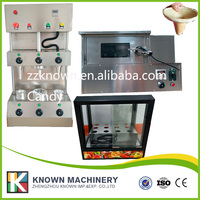 2 cones size choose umbrella cone Straight cone working pizza cone moulding machine with oven display