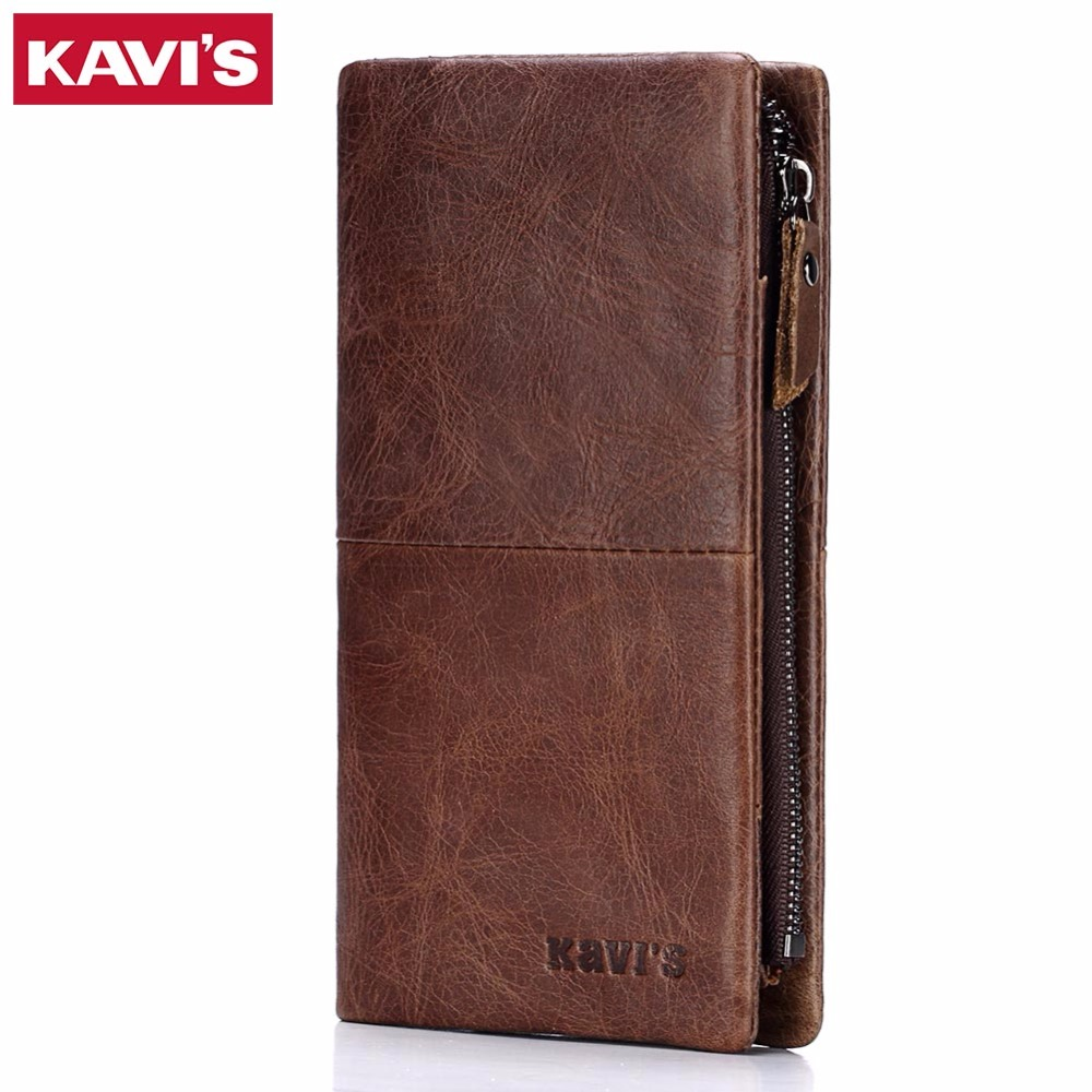 KAVIS Wallet Men Coin Purse Male Clutch Walet Portomonee Rfid PORTFOLIO Clamp for Money Handy Long Card Holder Perse Bag Vallet