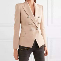 The of high quality goods stock tip Europe jacket metal buckle head double breasted suit