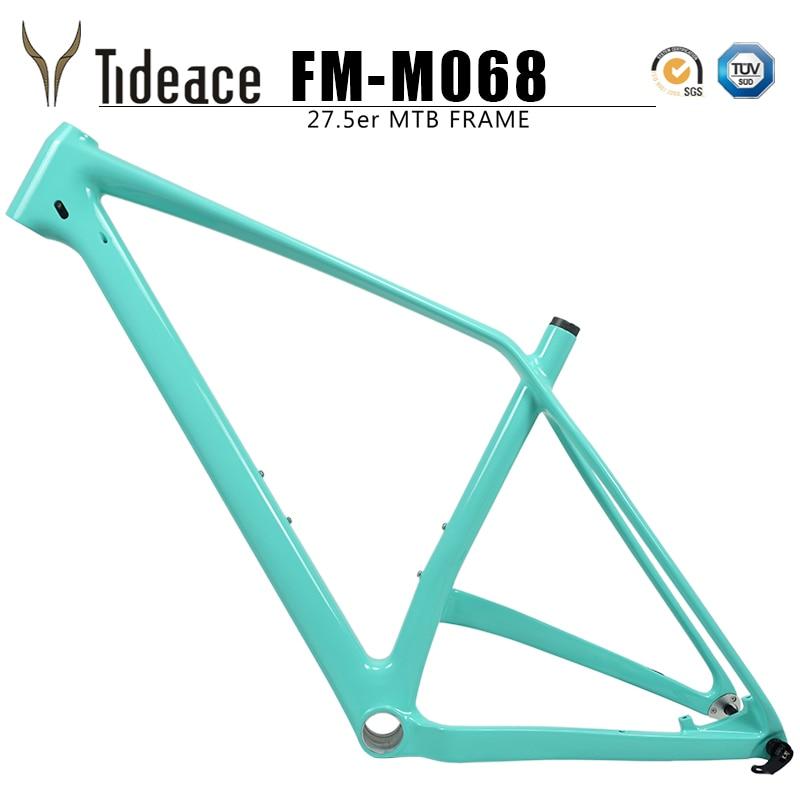 2019 148mm Mtb Carbon Frame 27.5er Carbon Mountain Bike Frame 27.5 Plus Full Carbon Fiber OEM Boost Mountain Frameset