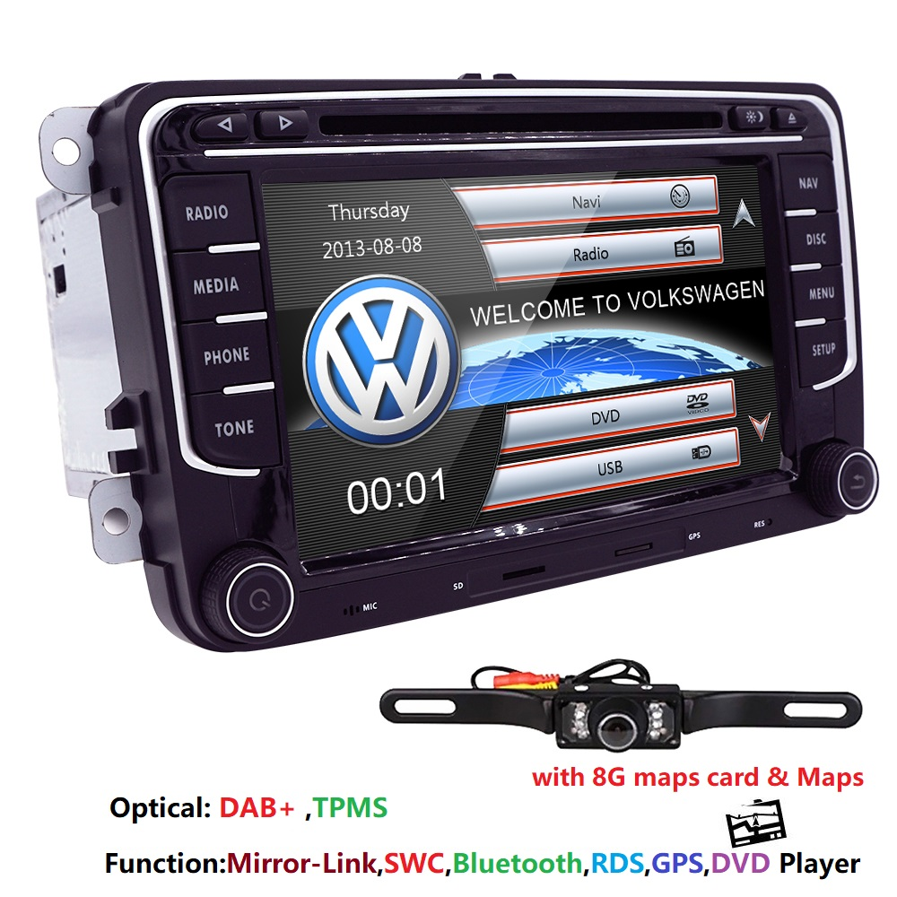2 din AutoRadio Car DVD Player for Volkswagen Seat Leon Altea Skoda Octavia 2 3 Rapid VW Passat b6 T5 Golf 5 6 Amarok Audio Navi