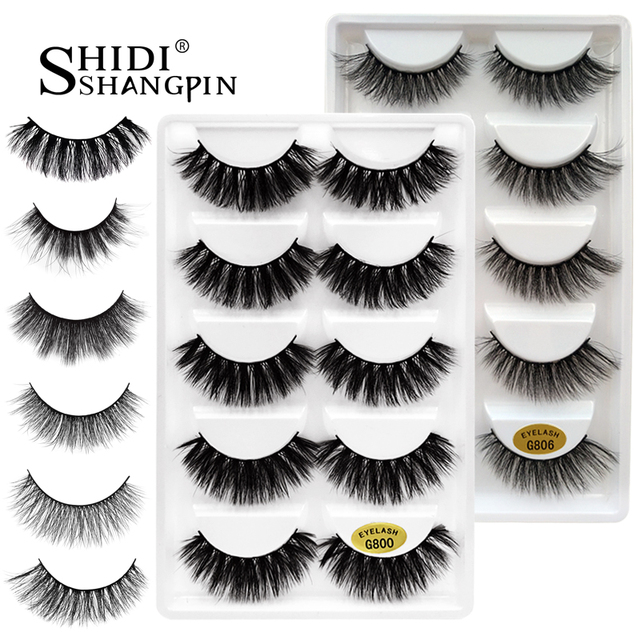 5 pairs false eyelashes 3D mink lashes natural makeup eyelash extension long mink eyelashes volume fake eye lashes faux cils