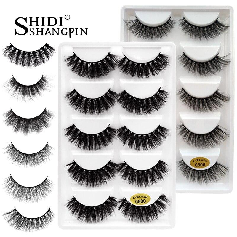 6e08dfe51f0 5 pairs false eyelashes natural 3D mink lashes makeup eyelash extension long  mink eyelashes volume fake eye lashes cilio russian