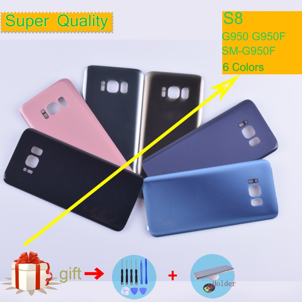 For Samsung Galaxy S8 G950 <font><b>G950F</b></font> <font><b>SM</b></font>-<font><b>G950F</b></font> Housing Battery Cover Back Cover Case Rear Door Chassis Shell S8 Housing Replacement image