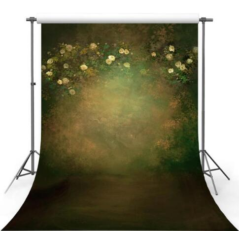 Vinyl Photography Backdrops Flower Retro photo background Oil Printed Floral 5x7ft backdrops child Photography Studio fotografia