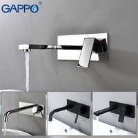 GAPPO basin faucet waterfall sink taps bathroom bath faucets wall mounted Water mixer shower plating brass tap