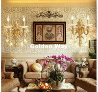 Modern Luxury Crystal Wall Light Brass color Wall Sconces Lamp New Jade Wall Brackets Light for bedroom living Room Wall Lamp