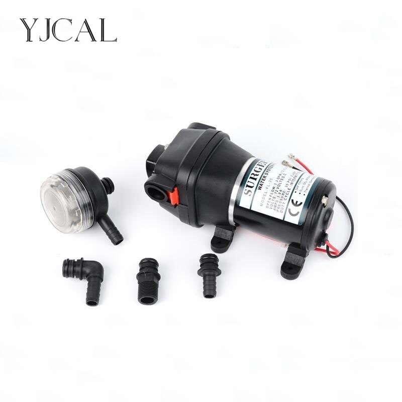 FL-40/44 12V 24V High Pressure Mini RV Yacht Family Water Self-priming Diaphragm Pump Reciprocating Filter Accessories Automatic the reciprocating pump