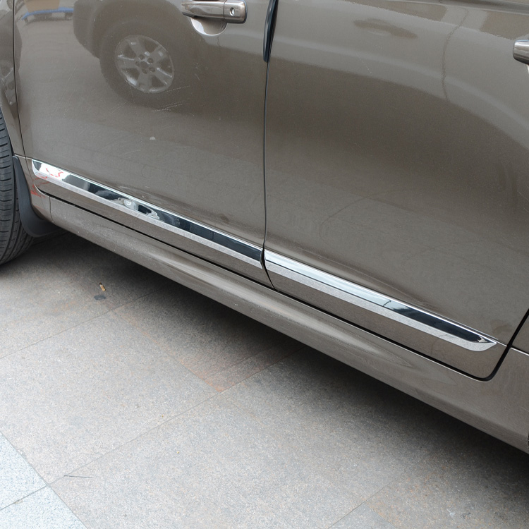 FOR 2014 2015 20016 2017 VOLVO XC60 CHROME SIDE DOOR LINE LINING GARNISH BODY MOLDING TRIM COVER PROTECTOR ACCENT